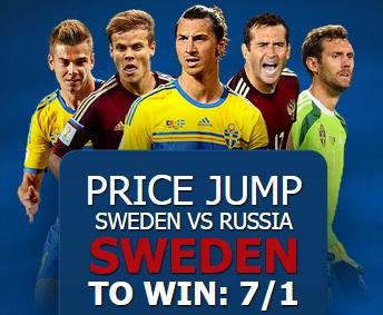 10 Bet odds Sverige - Ryssland Spelbolag